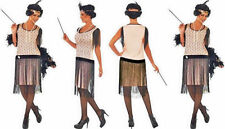 4PC Women's 1920's Coco Flapper Costume Dress Complete with everything NEW