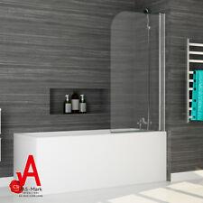 Frameless Over Bath Screen Shower Door Swing Panel 100 Failsafe 800x1450mm