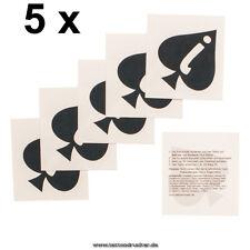 5 x Jack of Spades JoS - fetish temporary Tattoo - BBC - Bull - Big Tattoos