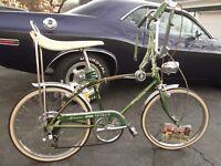 1967 Schwinn Sting-Ray Fastback 5 speed Campus Slik banana seat lock Muscle bike