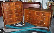 John Stuart French Style Flame Mahogany Bedroom Dresser and Chest Set
