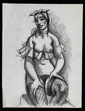 Charles PICART LE DOUX (1881-1959) 2 dessins : Femme nue prostituée Montmartre