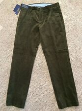 Mens Size 33 X 32 Polo Ralph Lauren Green Corduroy Pants Wide Wale Classic Fit