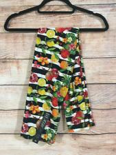 Tall and Curvy Super Soft Leggings Black White Fruit Lemons Fruit Salad P292N