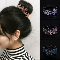 Gift Hair Clip Hairpin Ponytail Holder Crystal Claw Bun Women Comb Fashion Girls