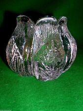 Kosta Boda Mats Jonasson Rosebud Votive Vintage Scandinavian Art Crystal Glass 2