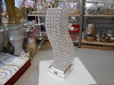 Luxus  Tischlampe   Messing  Kristall klar Höhe 45cm