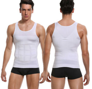 Mens Slimming Body Shaper Vest Abs Abdomen Compression Shirt Workout Tank Top US