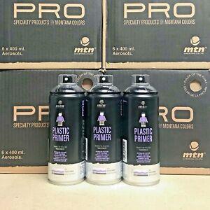 3x Mtn Pro Plastic Primer Spray by Montana Colors - 400ml