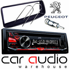 Peugeot 206 JVC CD MP3 USB AUX RED Display Car Stereo Radio Player & Fitting Kit