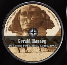 16 E-Books On CD DVD! LOT Gerald Massey Jesus Gnosis Egypt Beginnings Lectures