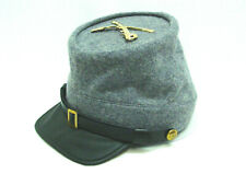 Civil War Confederate Rebel Gray Kepi Cavalry hat Crossed Sword Large New