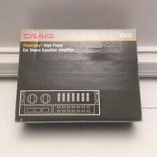 VINTAGE 1986 CRAIG Car Stereo Equalizer Amplifier V509 MINT BOXED,NOS,80's Audio