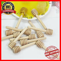 Wooden Honey Spoon Coffee Stirrer Dipper Long Handle Stirring Rod Kitchen Tools