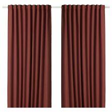 "New IKEA ANNAKAJSA Room darkening curtains, Brown-Red, 1 pair(2 Panels), 57x98 """