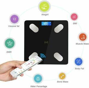 Bilancia Smart In Vetro Pesapersone Bluetooth Elettronica Digitale Con APP 180Kg