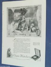 1920 ELGIN Watch advertisement page, Pocket Watch, Nuremberg Egg, Father Time