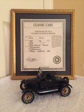 Danbury Mint, 1925 Model T Runabout, Roadster, Mint Condition