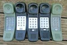 (5) Untested Western Electric Touchtone Dial Handsets Black Green