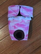 Female dog diaper-panties-QUILTED-Washable- PINK CAMO by angelpuppi