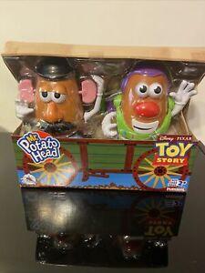 "Disney Pixar Toy Story 4 Mr Potato Head Buzz Lightyear & Woody 2 Pack 7"" Figures"