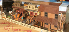 Complete Western G-scale 1/32 Set W/House, Stagecoach, Horses, 4 cowboys,feeders