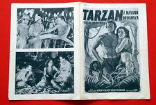 TARZAN & HIS MATE JOHNNY WEISSMULLER 1950'S MAUREEN O'SULLIVAN YUG MOVIE PROGRAM