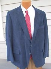 Barney's N.Y. Sz 44 R Navy Suede Two Button Lined Vented Men's Sports Coat