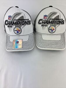 NWT Pittsburgh Steelers On Field 2010 Conference Champions Hat Reebok NFL