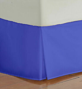 Bed Skirt US & RV Size Select Drop Length Egyptian Blue 1000 TC Egyptian Cotton