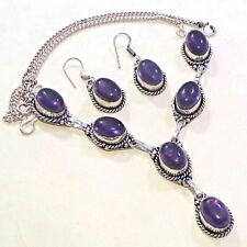 Lapis Lazuli Gemstone Silver Plated Women Neckace Fashion Jewelry