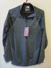 Mens New North Face Summit L1 Top Shirt Size Small Color TNF Black Heather