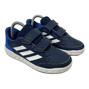 Adidas Alta Sport Blue and White Trainers Size Junior UK Size 4 Non Marking