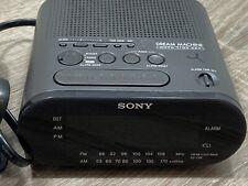 Sony Dream Machine AM/FM Alarm Clock Radio Model ICF-C218 Gray Black Tested