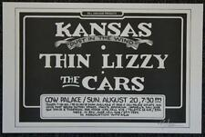 KANSAS DUST IN THE WIND THIN LIZY THE CARS POSTER SIGNED RANDY TUTEN BILL GRAHAM