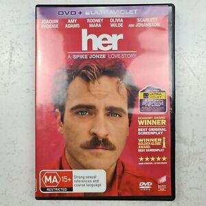 Her DVD - A Spike Jonze Love Story - Joaquin Phoenix Amy Adams Free Tracked Post