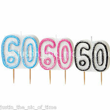 CANDLES Birthday Party Cake Glitter CANDLE Milestone Decorations 1st -100th