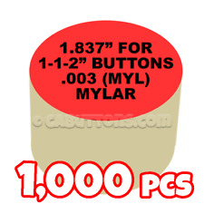 "1-1/2"" Tecre Mylars Clear Plastic Cover for Button Maker Machine Press 1000 pcs"