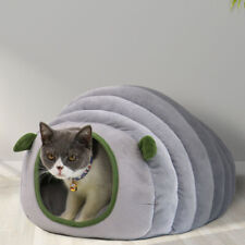 Mini Pet Cat Dog House Kennel Puppy Soft Sleeping Cave Bed Mat Pad Winter Nest