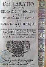 Benedictus 1742 Leuven gemengde huwelijken mixed marriages