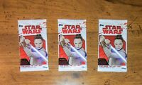 Topps Star Wars: The Last Jedi Trading Card Lot Of 3 Sealed booster packs NEW