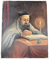 H J TOPMAN (JEWISH-DUTCH, B.1907) JEWISH RABBI JUDAICA OIL ON CANVAS