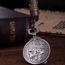 Dead King's Men Necklace Pendant Crown Coin Mortum Rex Pax Domini Leather Chain