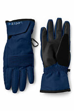 Lands' End Blue & Black Winter Snow Ski Gloves EZTouch 4 Phone SMALL = 8 =20.5cm