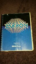 "Original Sega/Gremlin ""Zaxxon"" Coin-Op Arcade Video Game manual"