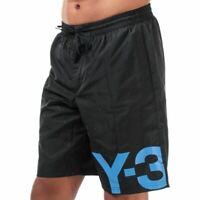 Men's Y-3 Large Logo Zip Fly Swim Shorts in Black