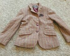 Zara brown checked jacket age 9-10 years
