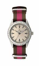 Toy Watch Vintage Women's Dark Green Pink Watch VI0SL Swarovski Crystals 0706
