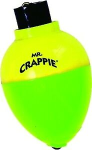 """Mr. Crappie RP4P-3YG Rattlin Pear Floats 1.25"""" Yellow And Green 3 Per Pack"""
