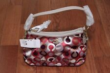 NWT Coach 46856 Madison Graphic Sateen Top Handle Handbag Purse Cherry Multi